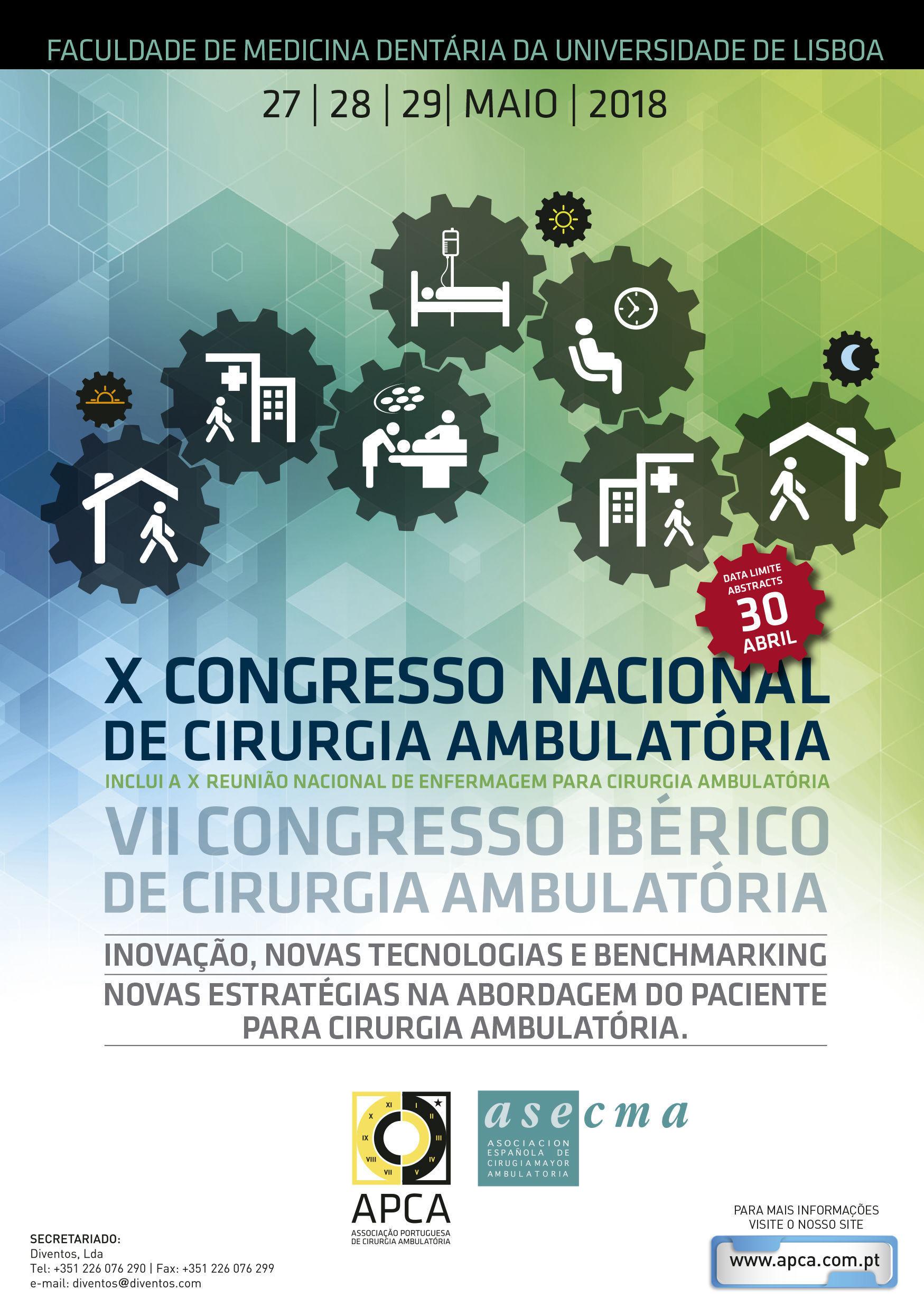 Resultado de imagen de X Congresso Nacional de Cirurgia Ambulatória
